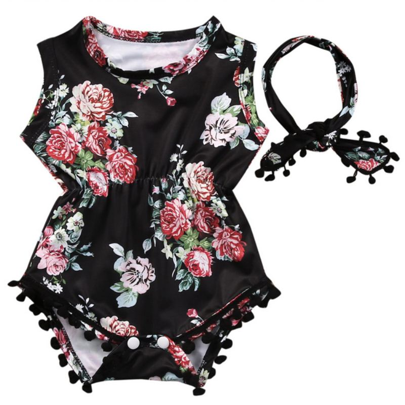 Cute Baby Rompers Summer Style Baby Girls Clothes 2pcs Floral Infant Jumpsuits Ropa Bebes Baby Boy Brand Clothing Set 2017 New 2017 new fashion cute rompers toddlers unisex baby clothes newborn baby overalls ropa bebes pajamas kids toddler clothes sr133