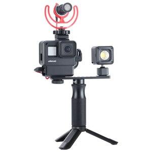 Image 5 - Ulanzi v2 pro gopro vlogging 케이스 하우징 케이지 프레임 w 마이크 콜드 슈 브래킷 + gopro 7/6/5 용 52mm nd 필터 링 어댑터