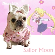 Sailor Moon Hoodie Pet Dog Clothes for Small Medium Dogs Pets Clothing French Bulldog Schnauzer Yorkshire Pug Costume ZZC10