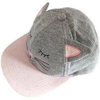 Cartoon Cute Pink kitty KT kot Czapka Z Daszkiem Cosplay Różowy kot hip hop Dziewczyna Dziecko KID Regulowane Curved Visor przejść Hike Słońce Kapelusz czapki