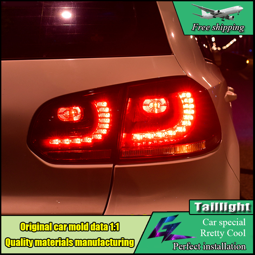 Car-styling LED Taillight Accessories For Volkswagen VW Golf 6 Tail Lamp Rear Light 2009 - 2012 DRL+Turn Signal+Brake+Reverse for vw volkswagen polo mk5 6r hatchback 2010 2015 car rear lights covers led drl turn signals brake reverse tail decoration