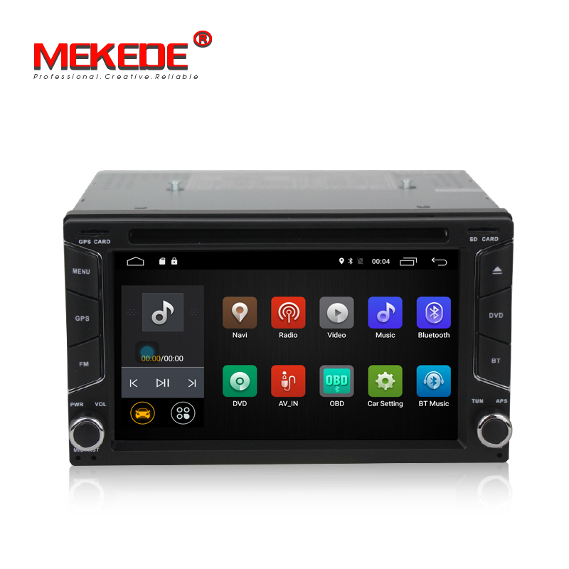 MEKEDE Android 7.1 universale Smart Car GPS lettore DVD di Navigazione per Auto multimedia GPS Player per Nissan supporto Radio 4g wifi BT