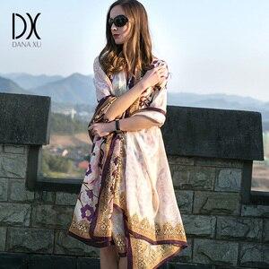 Image 3 - 2020 New Silk Luxury Brand Bandana Scarf Women Fashion Designer Shawls And Scarves Hijab Foulard Femme Pashmina