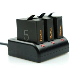 Usb 3-port câmera carregador herói 8 acessórios para gopro 5 bateria go pro herói 5 bateria para gopro herói 6 herói 7 edição preta