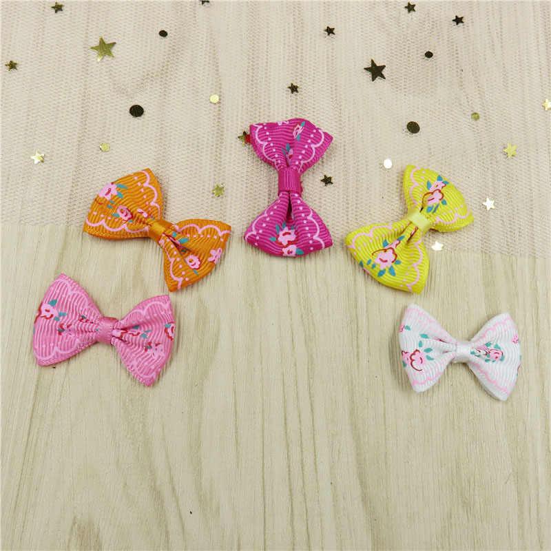 2 יח'\חבילה יפה פרח פרפר קטן עבור בנות בעבודת יד ילד אלסטי להקות שיער פצפוץ קליפ שיער אביזרים לילדים