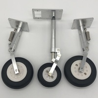 Metal landing gear for HSD Hobby A 903 Sonic KIT903 90mm EDF rc jet plane KIT white color for DIY