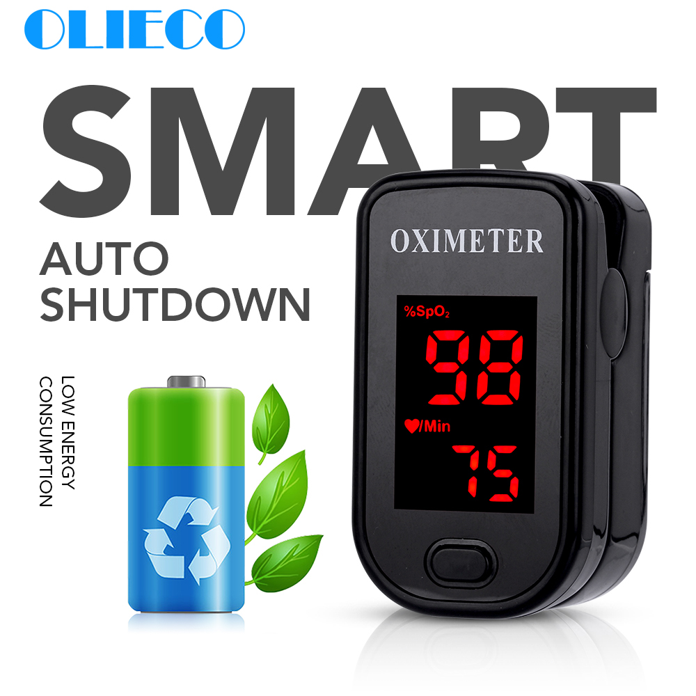 OLIECO Finger Pulse Oximeter Portable Digital Blood Oxygen Saturation Meter With OLED Display Children Adult SPO2 PR Oximetro CE
