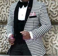 Classic slim Groomsmen Shawl Lapel Groom Tuxedos Men Suits Wedding/Prom Best Man Blazer ( Jacket+Pants+Tie+Vest) B01