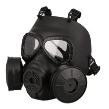 Military Gaming Protective Helmet Gas Mask Equipped With Double Fans For CS Paintball Military Tactical Army Head Face Protector(China)