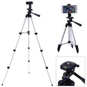 Foldable Camera Stand Tripod-Stabilizer Screw Fluid Phone-Holder Professional Aluminum