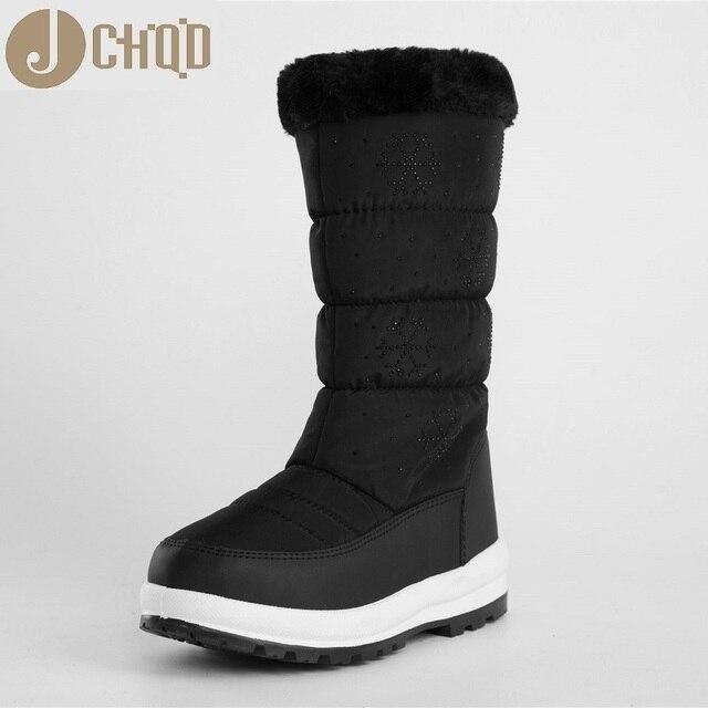 JCHQD 2018 الشتاء الأحذية أزياء المرأة الثلوج الأحذية نمط النساء الأحذية العلامة التجارية أحذية عالية الجودة سريع شحن مجاني girlw الأحذية