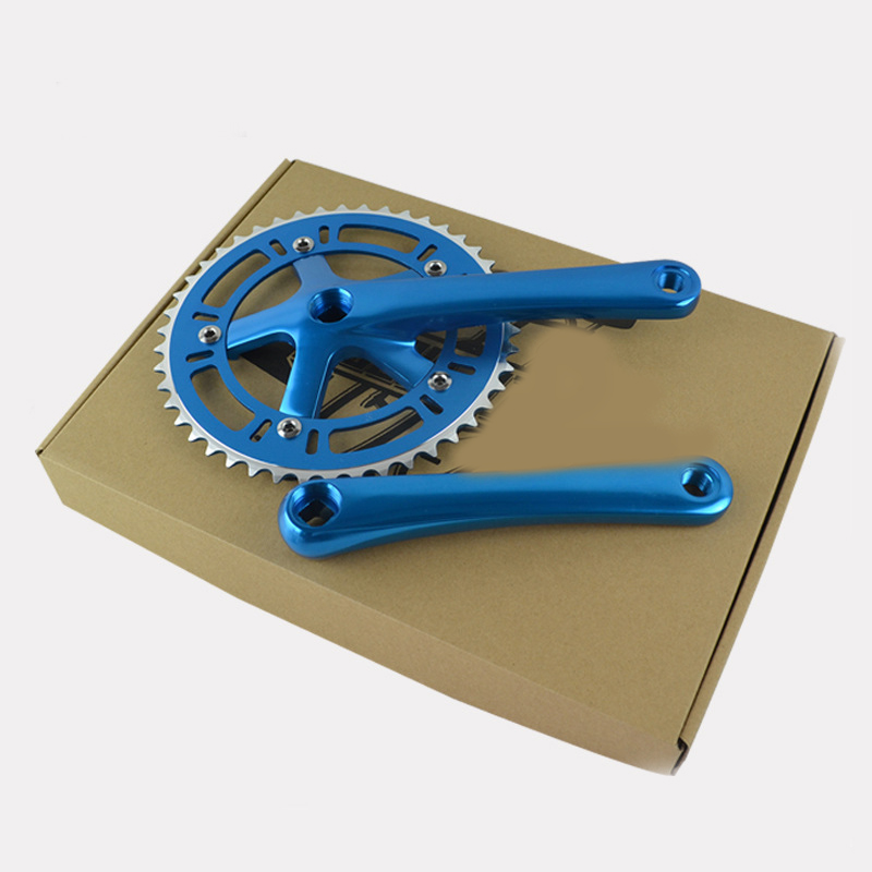 Foldable Bicycle Bike 46T Chain Wheel Crankset BCD130mm Fixed Gear Cycling Retro Hollow Chain Wheel Cycling Aluminum alloy part west biking bike chain wheel 39 53t bicycle crank 170 175mm fit speed 9 mtb road bike cycling bicycle crank