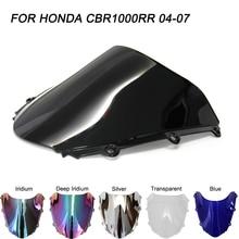 ABS ветровое стекло для Honda CBR1000RR CBR 1000RR 2004 2005 2006 2007 Double Bubble мотоциклетные ветровые дефлекторы