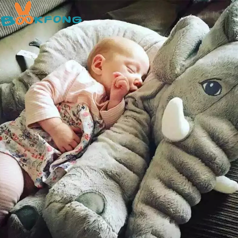 BOOKFONG 1PC 40/60cm Infant Soft Appease Elephant Playmate Calm Doll Baby Appease Toys Elephant Pillow Plush Toys Stuffed Doll 5