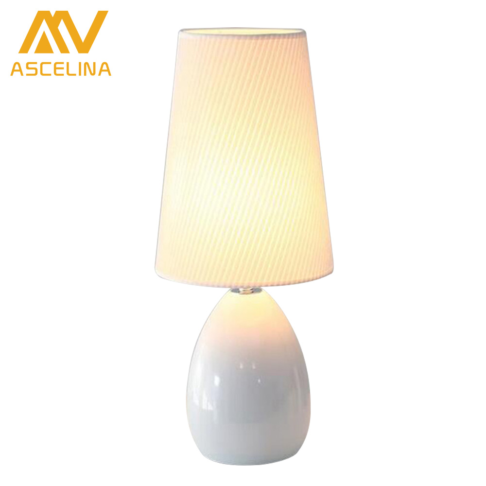 ФОТО Modern Bedroom Table Lamps European Style Ceramic Fashion Simple Bedside Lamp Living Room Decoration Study Reading Desk Light