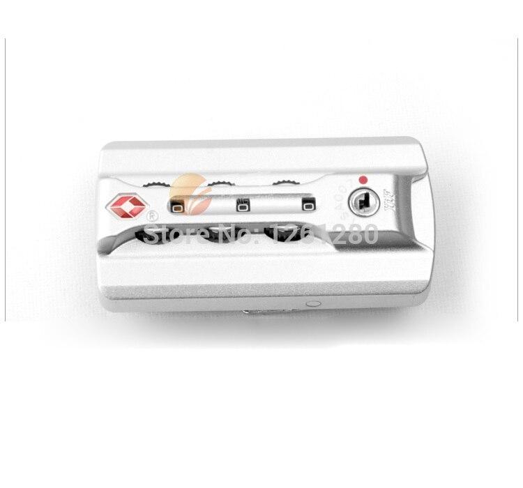 Spedizione gratuita ABS Doganale lucchetto tsa Trolley casella di blocco serratura parte fissa FAI DA TE fatti a mano Dei Bagagli valigia codice di blocco