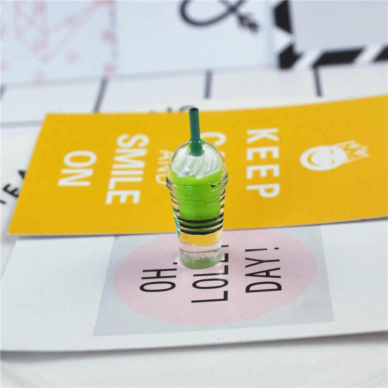 1 Pack Slime Pendenti e Ciondoli Mini Ice Cream Tazza di Resina Plastilina Slime Accessori Perline Forniture Per L'artigianato FAI DA TE