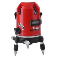 Automatic Level Laser Instrument Laser Level 5 Lines 6 Points 360 Self Rotary Tilt Function 635nm