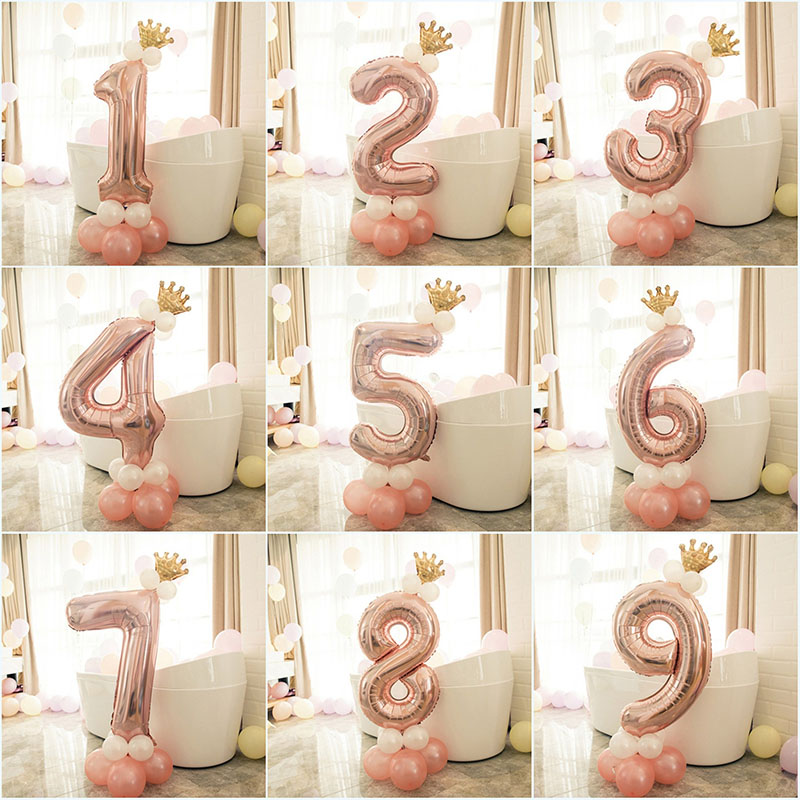 Image 2 - Heronsbill 1st 1 2 3 4 5 6 7 8 9 Years Happy Birthday Foil Number Balloons Baby Boy Girl Party Decorations Kids Supplies 2nd 3rd-in Ballons & Accessories from Home & Garden