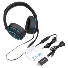 badasheng 7.1 Encompass Sound channel USB Gaming Headset Wired Headphone with Mic Earphone Quantity Management Noise Cancelling 5-in-1