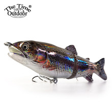 Thetime 66/23g Wobbler 2 Sections Multi Sections Minnow Seawater fishing Lure Hard Baits For Trout Bass Pike Trolling Swimbait