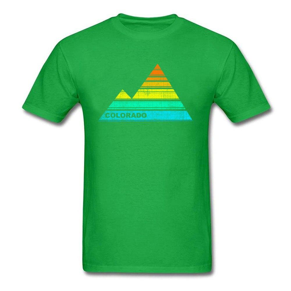 Tops Shirts retro colorado souvenir April FOOL DAY Cotton Fabric Round Collar Men T Shirts Casual Tops T Shirt 2018 Discount retro colorado souvenir green