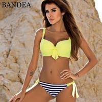 BANDEA Bikini Women Push Up Swimwear 2018 Patchwork Bandage Halter Swimsuit Beach Wear Bathing Suit Plus