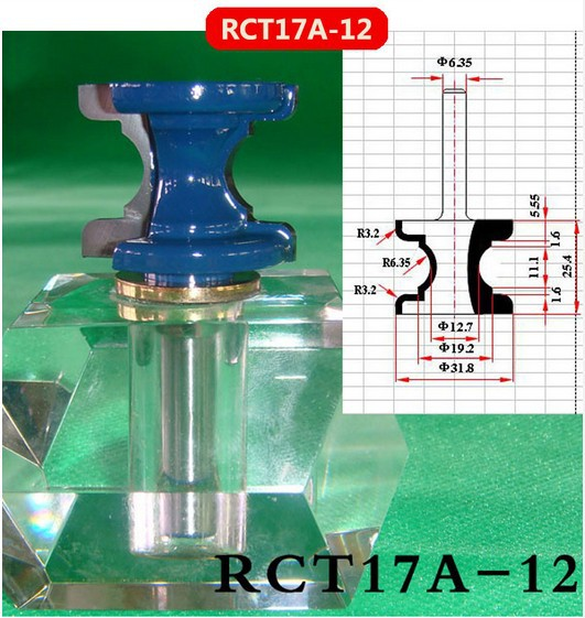 Industry Quality Carbide Wood Working Line Shape Molding Router Cutter Bits V Groove ( RCT17A-12)  цены