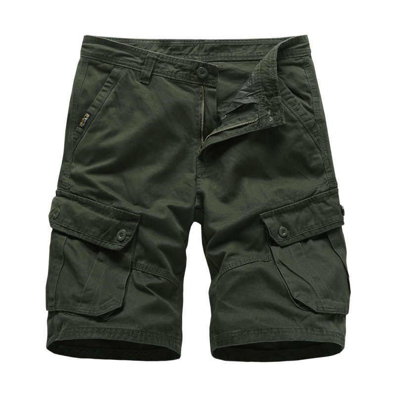 Męskie szorty cargo 2020 Brand New armia taktyczna wojskowa szorty mężczyźni bawełna luźne pracy dorywczo krótkie spodnie Drop Shipping