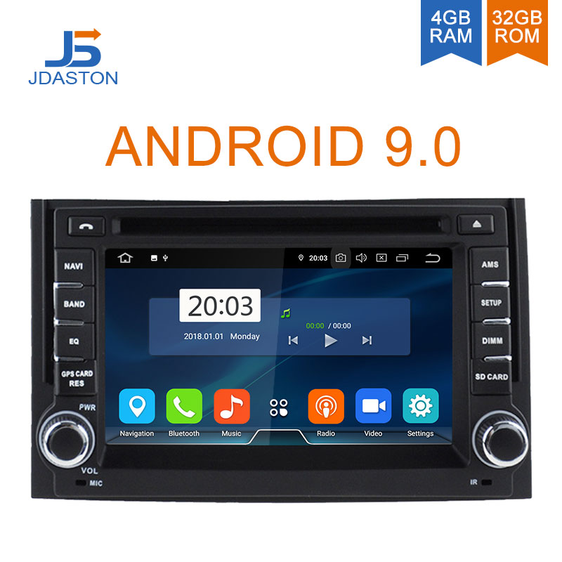 JDASTON Android 9.0 Car Multimedia Player For Hyundai H1 Grand Starex iLoad i800 4G+32G 2Din Car Radio Stereo GPS Navigation DVD