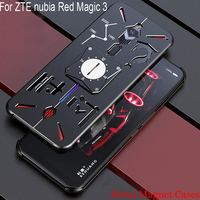 Luxury Metal Magnetic Phone Back Cover Case For ZTE nubia Red Magic 3 Magnet Car Holder Case For ZTE nubia Red Magic3 NX629J