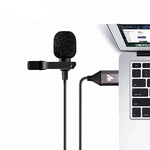 Image 2 - MAONO USB Microphone Lavalier Mic HandsFree Condenser Microphone Shirt Collar Clip on Lapel Mic for PC Computer Laptop YouTube