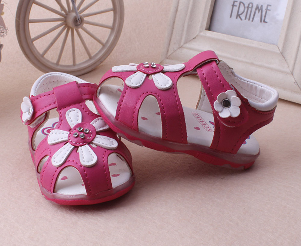 夏のベビー靴女の子男の子子供サンダル靴ベビーキッズ幼児新しいヒマワリ女の子サンダル