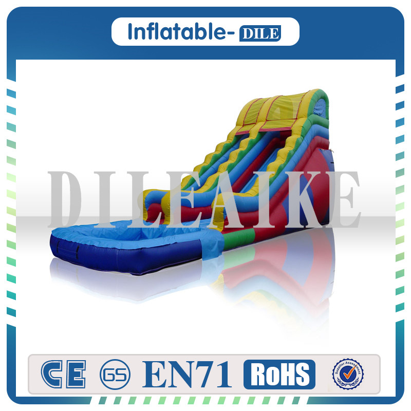 High Quality 0.55mm PVC Giant Inflatable Water Slide, Swimming Pool Slide For Party And Events
