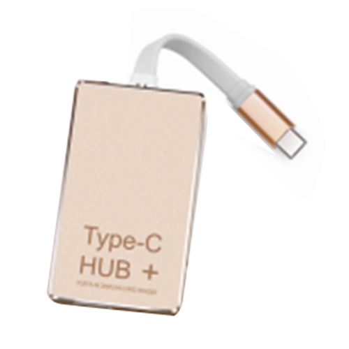 1 pcs light tone type TYPE-C HUB + charge high speed 3.0 card reader 4k hdmi aluminum alloy usb-c converter