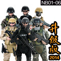"""hot ! NEW 1pcs 12"""" 1/6 SWAT Black Uniform Military Army Combat Game Toys Soldier Set with Retail Box Action Figure Model toys"""