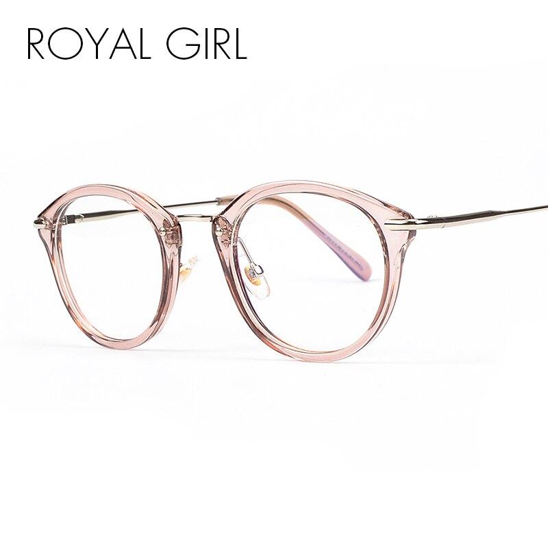 ROYAL MÄDCHEN Hohe Qualität TR Rahmen Mode Gläser Frauen-brillen Vintage Runde Klare Linse Gläser os012