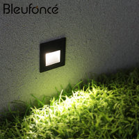 3w High End Embedded LED Footlights IP65 Villa Stair Stepping Lamp Outdoor Waterproof Wall Lamp Aisle