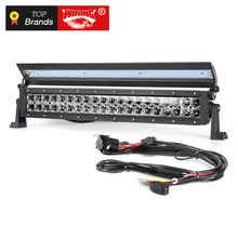 Freeshipping NEW 6D led light bar 132W Flip cover Single Row for Wrangler JK TJ4x4 offroad Combo work