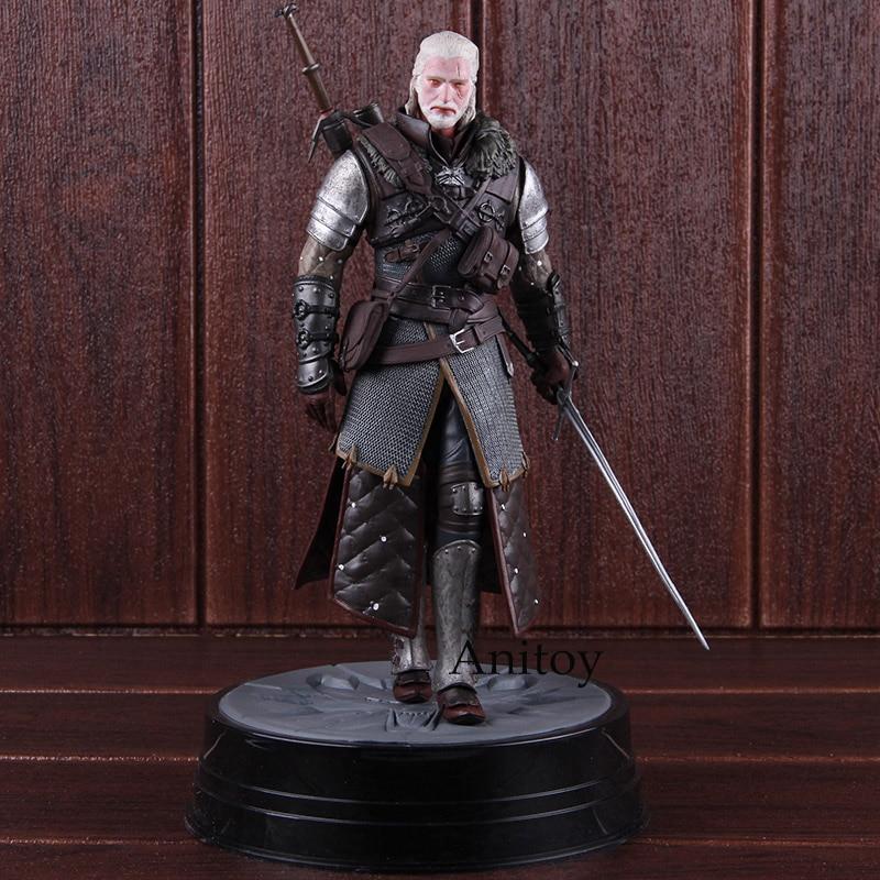 Cheval noir The Witcher 3 sauvage chasse Geralt de Rivia Grandmaster Ursine Statue PVC figurine d'action modèle à collectionner jouet 25 cm