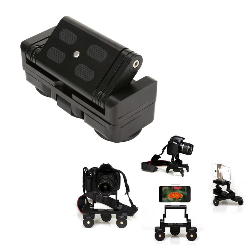 Desktop 3 Wheel Camera Rail Car Dolly Car Video Slider Track for Canon 60D 650D 1000D 5D3 Nikon Sony DSLR Cameras Gopro Phone