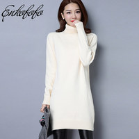 High Quality Women Sweater New Turtleneck Pullover Winter Tops Solid Cashmere Sweater Autumn Female Pullovers Wool