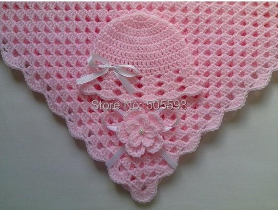 A la venta Crochet manta de bebé y el bebé sombrero juego de regalo ...