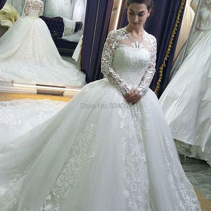 Dw2815 Princess Ball Gown Wedding Dresses 2017 Lace With: Vestido De Casamento 2017 Lace Ball Gown Wedding Dress