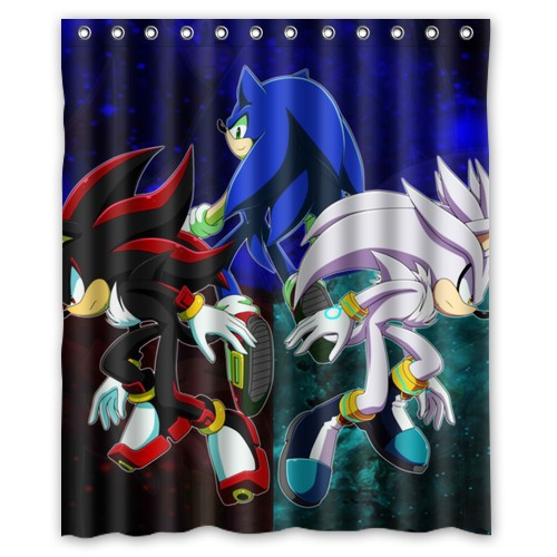 New 2015 Good Quality Fabric Sonic The Hedgehog Shower Curtain 60x72 Inch Bath Waterproof Cortinas On Sale