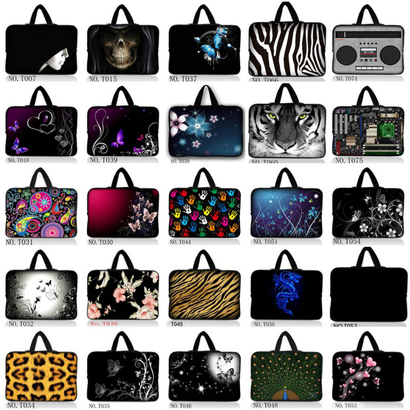 Lovely Panda 7 8 10 12 13 14 15 17 inch Laptop Bag Soft Neoprene Flexible Notebook Case Bag for MacBook Lenovo hp DELL Vaio