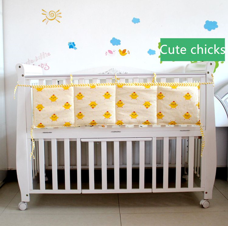 110*28cm Cotton Cartoon Twill Printed Baby Bedding Sets Hanging Storage Bag Newbaby Bedding Accessories