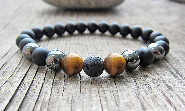 usa with bracelet matte vajra black beaded tai onyx