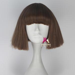 Image 2 - Panna U włosy krótkie proste włosy Fran Bow brązowy kolor dziewczyna gra Halloween peruka do cosplay