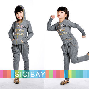 Girls Suits 2015 Trend Kids Clothing Fashion Designer Girls Casual Suits Spring Wear,Free Shipping
